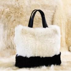 сумка-тоут из натуральной овчины