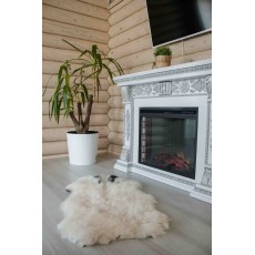 натуральная овчина (кремовая с пятнышками) 100*70 длинный ворс