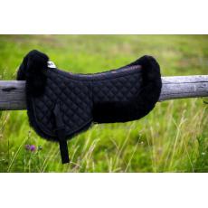 Меховушка под седло чёрная