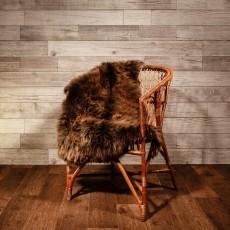 овчина (коричневая с рыжинкой) длинный ворс 120*80 см.