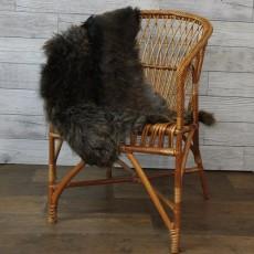 ангорская коза (темно-коричневая) прямой ворс