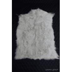 Белая шкура ангорской козы 90 х 60 см