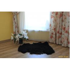 Овчина (чёрная) с волнистым ворсом 100 х 70 см.