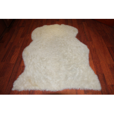 Овчина (жемчужно-белая) с прямым ворсом 90 x 70 см.