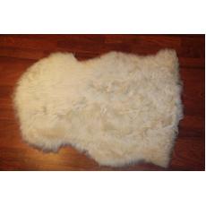 Овчина (светло-кремовая) с волнистым ворсом 100 x 70 см.