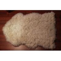 Овчина (бежевая) с волнистым ворсом 100 x 70 см