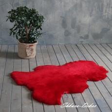Коврик одношкурный оз натуральной овчины (красный)