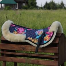 Меховушка под седло из новозеландской овчины