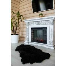 Овчина (темно-коричневая) длинный, кудрявый ворс 110*70 см.