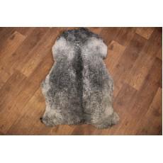 Овчина ( романовская ) серая с плосой 100*70 см