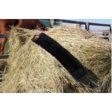 Меховушка на подпругу из овчины (чёрная)
