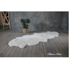 Ковёр из двух овечьих шкур (цвет - молочный)