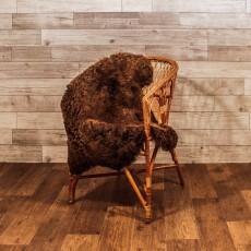 Овчина (тёмно-коричневая) длинный ворс 110*70 см.