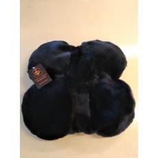 Меховушка на казачье седло (чёрная)