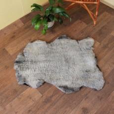 Меховая накидка из овчины (коричневая) лоскут с подголовником