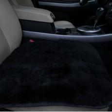 меховая накидка на сидушку (черная) лоскут 50*50 см