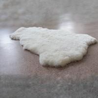 овчина (белая) прямой ворс 110*70