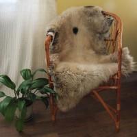 Овчина (пепельно-бежевая) длинный ворс 110*70 см.