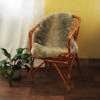 овчина (светло-серая) кудрявый ворс 100*70 см.