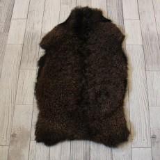 козья шкура (темно-коричневая) кудрявый ворс 100*70 см.