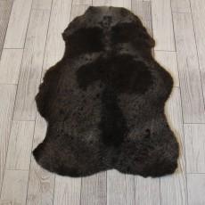 овчина (темно-коричневая) короткий ворс 100*70 см.