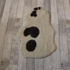 овчина (светлая с пятныстым узором) короткий ворс 100*70 см.