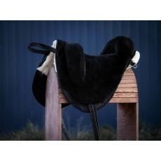 пад из натуральной овчины (бежево-чёрный)