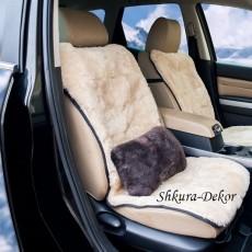 Меховая подушка из овчины (коричневая), 30 х 20 см