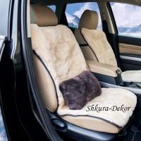 Меховая подушка для авто из овчины  30 х 20 см  Цена за 2 шт