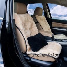 Меховая подушка из овчины (чёрная), 30 х 20 см