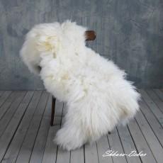 Овчина (жемчужно-белая) с длинным ворсом 120 x 70 см.