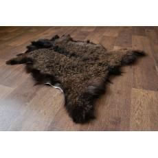 Шкура Ангорской козы (темно-шоколадная) с кудрявым ворсом 105*80 см.