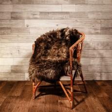 овчина (коричнево-бежевая) с длинным ворсом 110*80 см