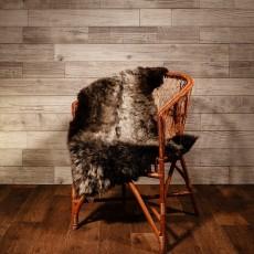 овчина (серебристо-коричневая) с прямым ворсом 110*70 см