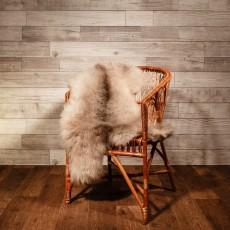 овчина (серая с полосой) мягкий ворс 110*70 см.