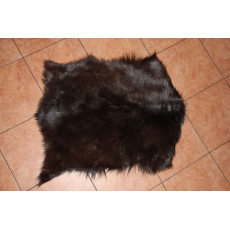Черная маленькая шкура алтайской козы