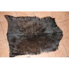 Черная шкура алтайской козы 90 х 60 см.